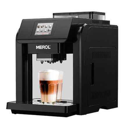 Merol ME-717 coffee machine fully automatic one-button small grinder Italian commercial home cooking automatic milk foam кофемашина merol italco merol me 709 серебро