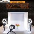 Travor Foldable Light Box Studio Softbox 60*60CM With 4PCS LED Ring Light/5PCS MiniTripod For Camera Phone Photography Lightbox