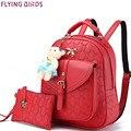 ЛЕТАЮЩИХ ПТИЦ новые женщины рюкзак моды Рюкзаки женщин кожа дамы девушка школьные сумки сумки на ремне женский сумка LM4003fb