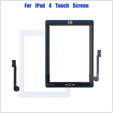 for iPad 4 4th Gen A1458 A1459 A1460 Touch Screen Digitizer 9.7'' Front Glass Panel Screen Replacement for With Home Button