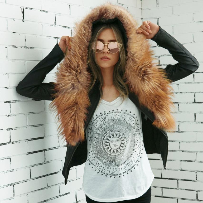 snowsong#4001 Women Ladies Faux Leather Outwear Racing Style Biker Jacket Coat