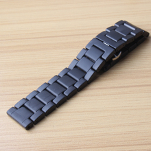 Watchbands Watches accessories black pure Ceramic Watch straps bracelets 18mm 20mm 22mm brushed watchbands Straight ends matte