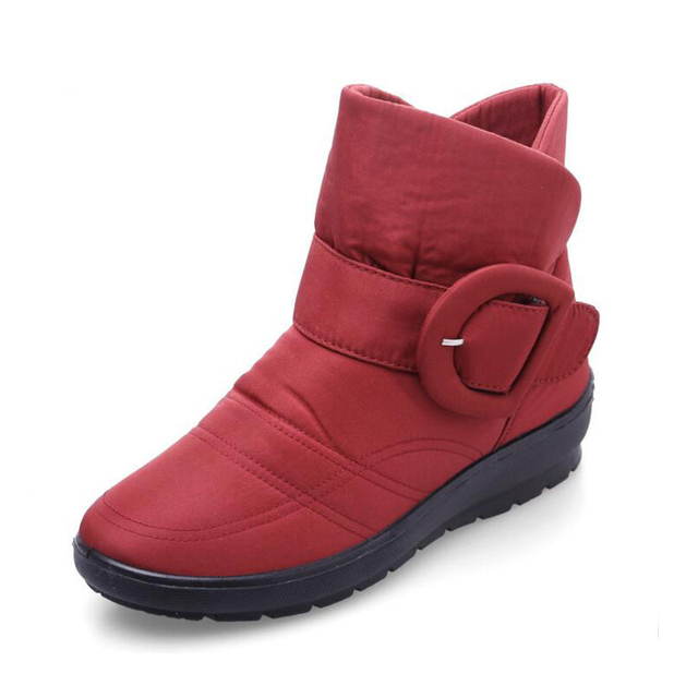 COOLSA Women Snow Boots Winter New Arrival Women Flat Low Tube Boots with Plush Warm Cotton Shoes Waterproof Snow Boots Hot Sale