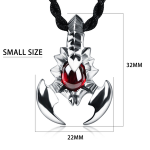 Image 4 - JIASHUNTAI Retro 925 Silver Sterling Scorpion Pendant Necklace Silver Jewelry Red Stone For Women and Men lvoers
