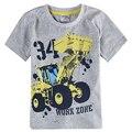 Meninos de varejo do bebê roupas de verão de algodão de manga curta padrão de carro da moda menino t-shirt nova crianças 2016 novas crianças meninos de roupas