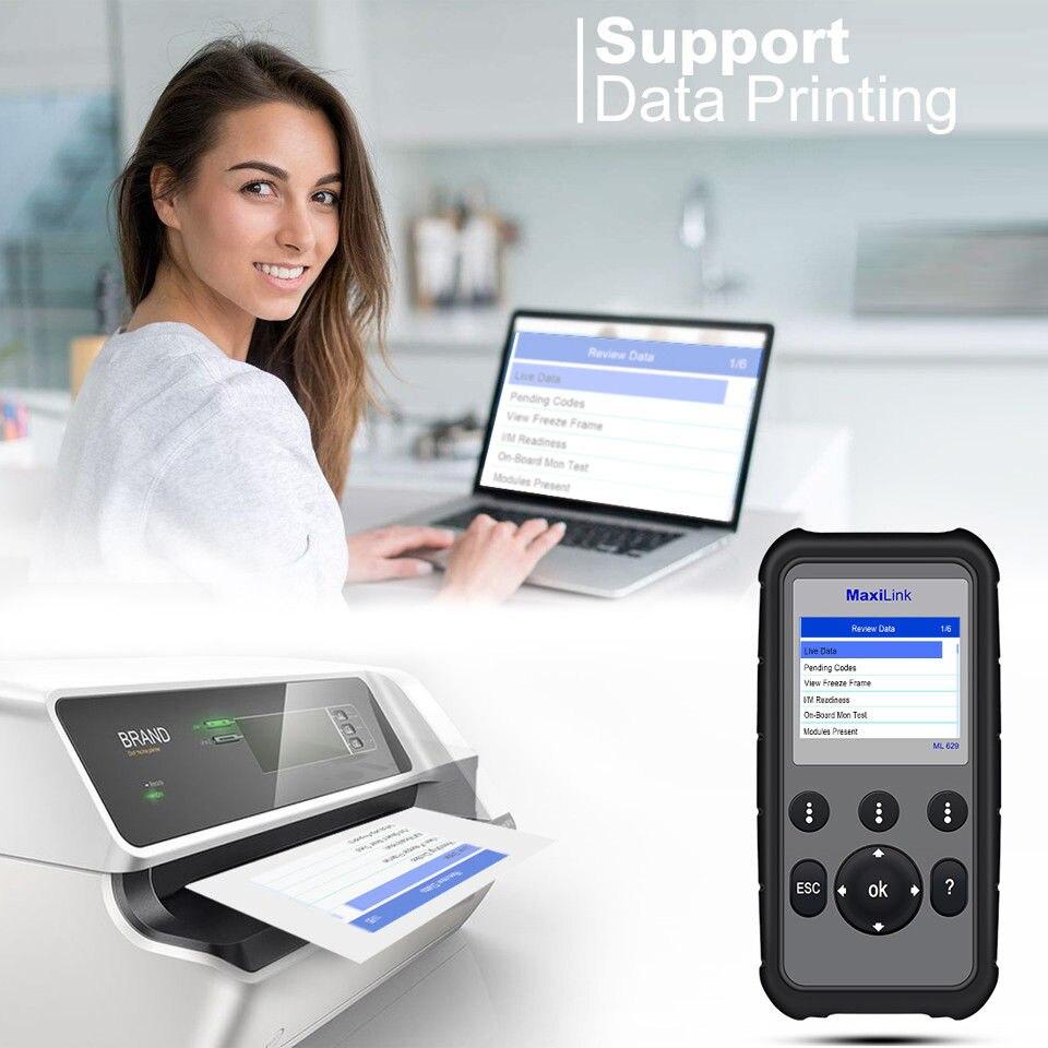 Image 3 - Autel ML629 Maxi Link Diagnostic Tool Auto OBD2 Scanner Code Reader ABS Airbag Code Reader Upgrade Autel ML619 AL619