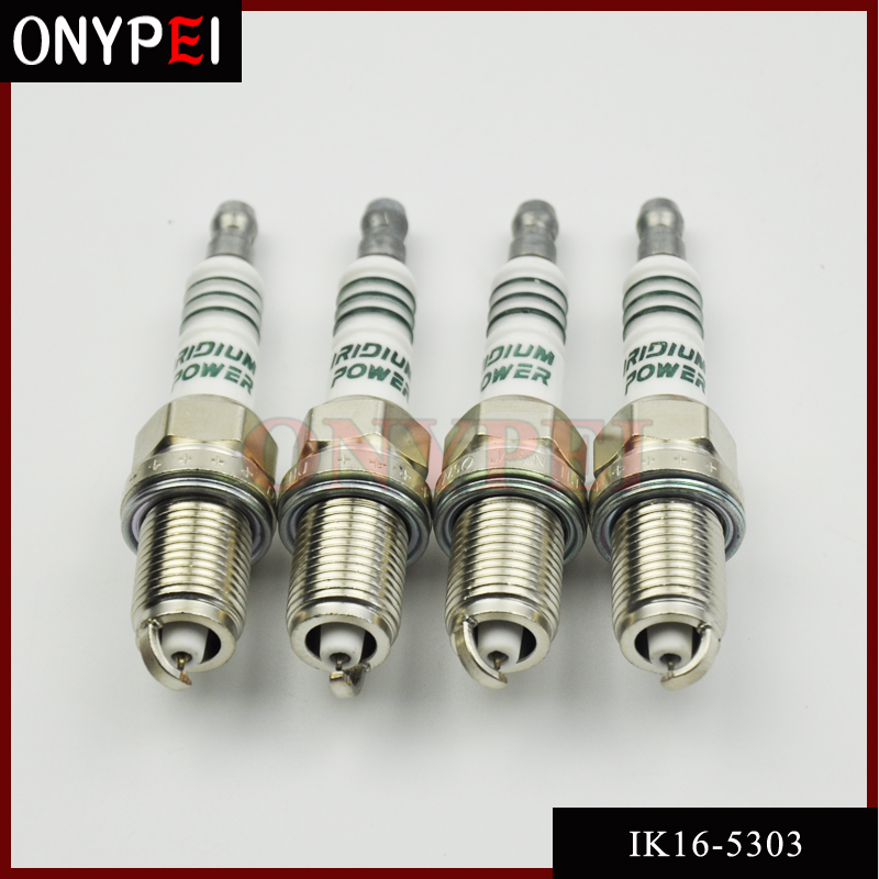 4 PCS IK16 5303 Car Candle IRIDIUM POWER Spark Plug Glow Plug For Toyota Nissan Honda Hyundai Kia Mercedes-Benz Audi IK16-5303