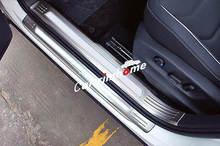 Наружная + внутренняя Накладка на порог двери 8 шт для vw tiguan