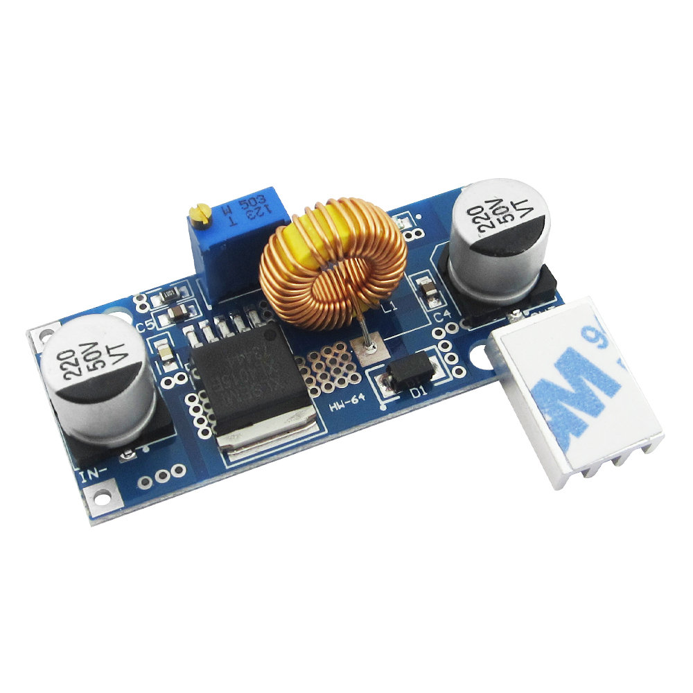 Free shipping 10PCS 5A XL4015 DC-DC Step Down Adjustable Power Supply Module Lithium Charger lm2596 lm2596s led voltmeter dc dc step down step down adjustable power supply module with digital display for arduino diy kit