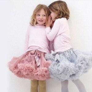 1-10Y Girls Tutu Skirt Ballerina Pettiskirt Layer Fluffy Children Ballet Skirts For Party Dance Princess Girl Tulle Miniskirt(China)