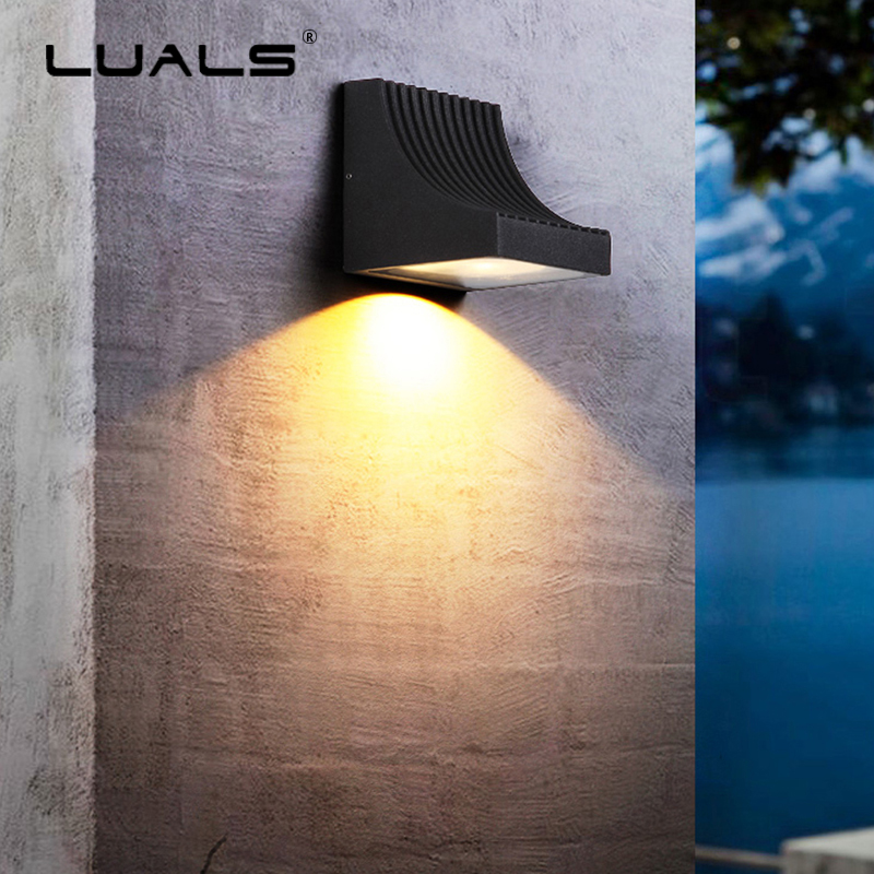 Simple Modern Wall Light Upscale Outdoor Wall Lamp Luxury Villa Art Wall Lamps Waterproof LED Lights Courtyard Aisle Lighting outdoor wall lights simple modern wall light waterproof led wall lamp luxury villa aluminum wall lamps hallway art deco lighting