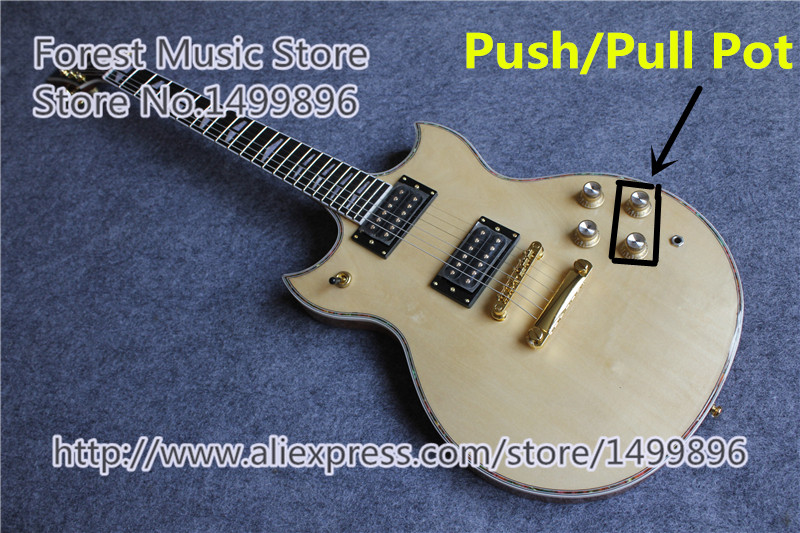 New Arrival Nature Wood Finish SG Custom Electric Guitars Chinese OEM Push/Pull Pot Guitar For Sale new arrival chinese famous brand oem company electric guitar factory direct beginner guitar high quality