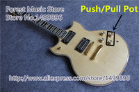 New Arrival Nature Wood Finish SG Custom Electric Guitars Chinese OEM Push Pull Pot Guitar For