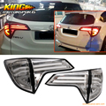 For 2016 Honda HRV Rear Full LED Light Bar Tail Lights W/ Switchback - Chrome Clear
