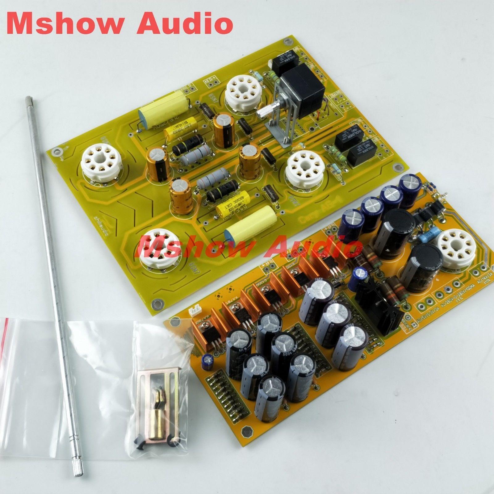 Carte assemblée de préamplificateur de Tube de HIFI 6SN7 renvoient l'audio célèbre de préamplificateur de Cary de circuit par ZHI