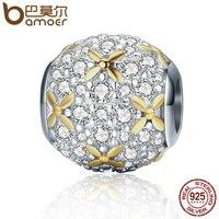 BAMOER Fashion New 925 Sterling Silver Firefly Lightning Bug Silver Gold Color Beads Fit Charm Bracelet