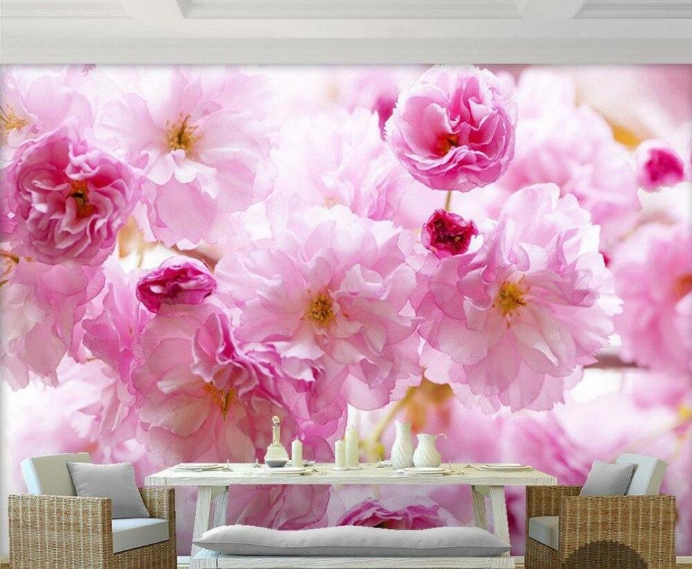 Promoci n de flor de cerezo wallpaper compra flor de for Papel pintado personalizado