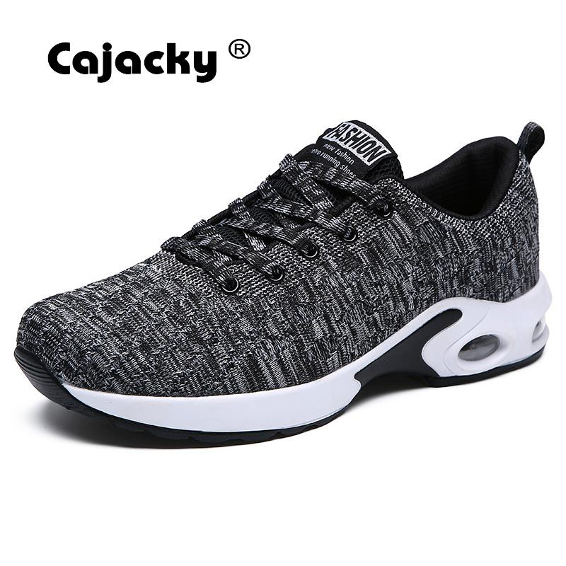 Cajacky Casual Shoes Men Fashion Sneakers Summer Breathable Mesh Shoes Male Lightweight Trainers Men Footwear Lace Up Zapatos kemekiss women warm plush warm snow boots for women thick platform ankle botas female thick fur winter footwear size 36 40