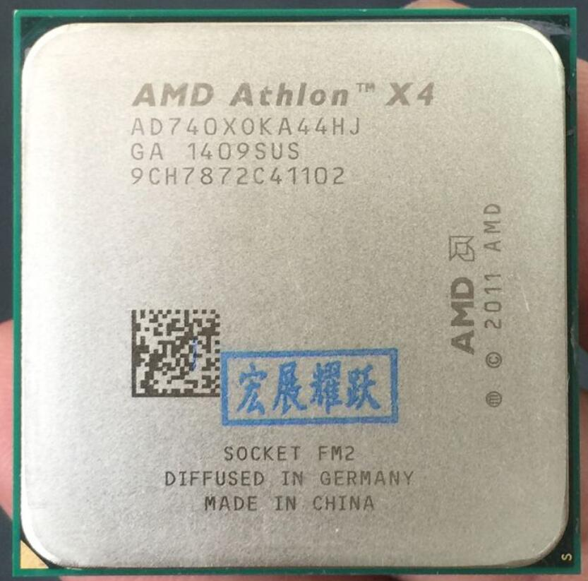 La computadora de la PC AMD Athlon X4 740X740 FM2 Quad-Core CPU 100% funciona correctamente escritorio procesador