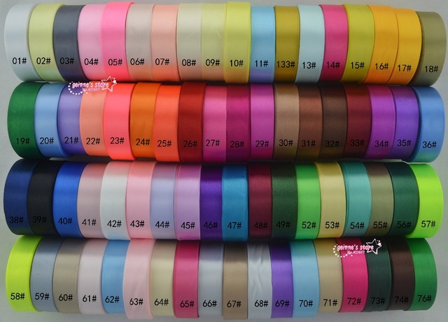 new arrive (25 yards/roll )1'' 25mm Single Face Satin Ribbon 120 colors can option Wholesale gift packing Christmas ribbons