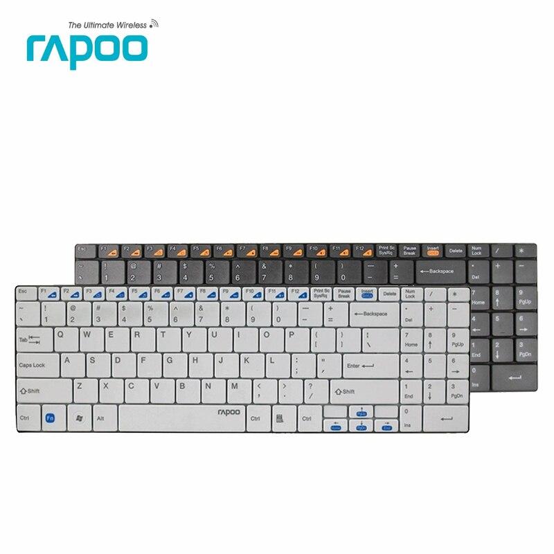 Original Rapoo E9070 2.4G Multi-Media Programmable 5.6mm Ultra-Slim Wireless Keyboard For Laptops Desktops PC Free Shipping