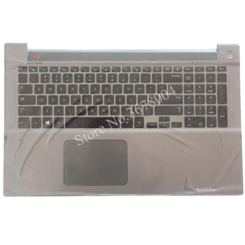 NEW English For Samsung NP700Z7A NP700Z7B NP700Z7C Backlit keyboard US laptop keyboard with C shell new german gr laptop keyboard for samsung np730u3e np740u3e silver with shell