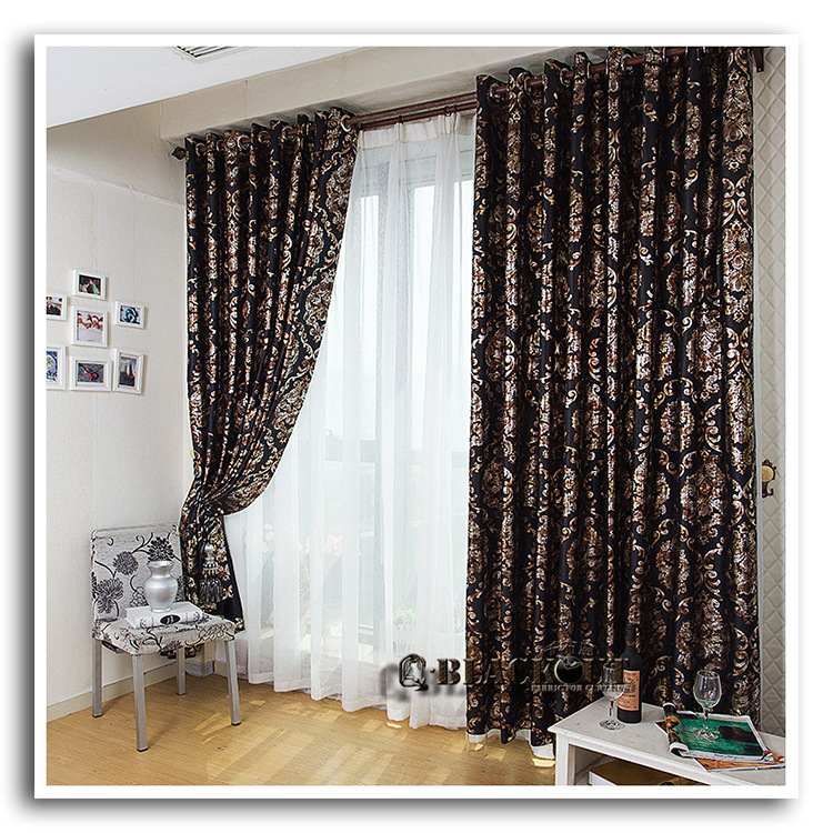 popular black gold curtains buy cheap black gold curtains