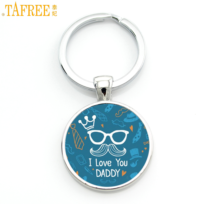 TAFREE New Love Daddy Gifts Men Keychain Je Suis Un Beau Papa Qui Dechire Father's Key Chain Ring Holder Je T'aime Jewelry CT511