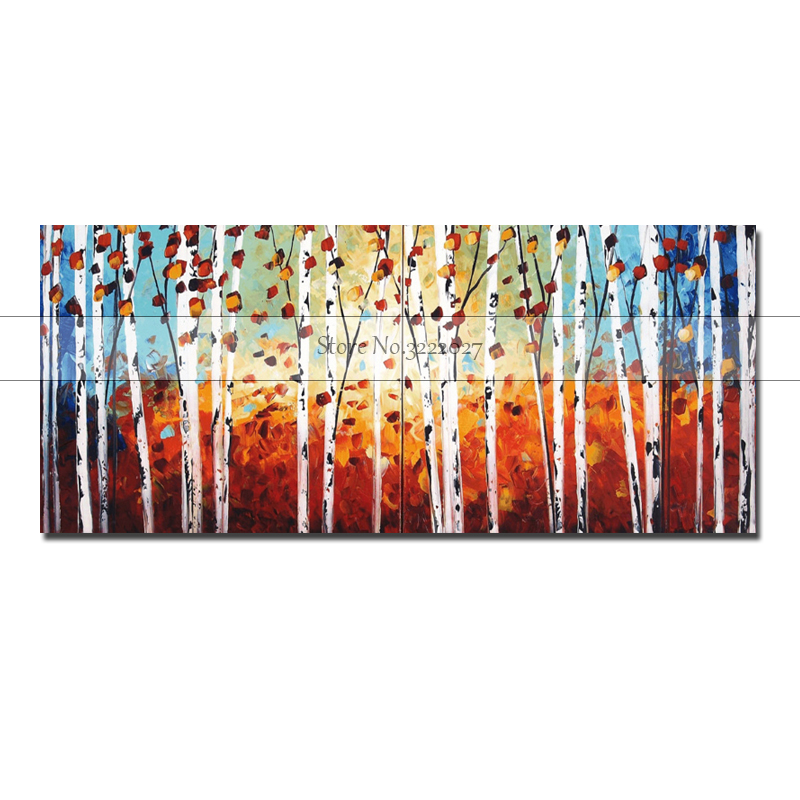Frameless Autumn Gardan Landscape Hand painted Painting By Numbers Kits Painted Modern Wall Art Canvas For Artwork