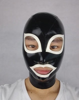 (LH1110) 100% natural latex mask rubber hood Mask with open eyes and mouth