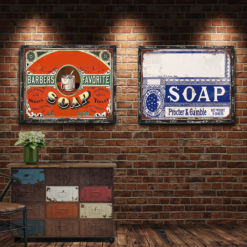 Soap Vintage Metal Plate Tin Signs Wall Poster Decals Plate Painting Bar Club Pub Home Decor Wall 30 20cm in Plaques Signs from Home Garden
