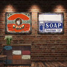 Soap Vintage Metal Plate Tin Signs Wall Poster Decals Painting Bar Club Pub Home Decor 30*20cm