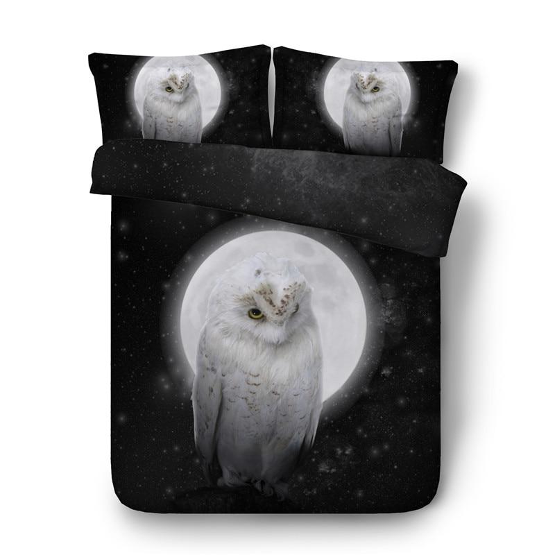 NEW OWLS BIRDS DUVET QUILT COVER PILLOWCASE BED SET SINGLE DOUBLE KING SUPERKING