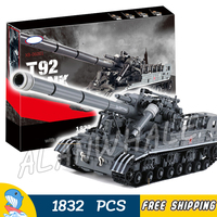1832pcs New Military Army T92 Abrams Main Battle Tank 06001 Model Building Blocks Toy Sets Collection Gifts Compatible With Lego