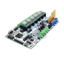 BIQU Rumba motherboard rumba MPU RUMBA versión optimizada Tablero de control con 6 unids A4988 Stepper Conductor