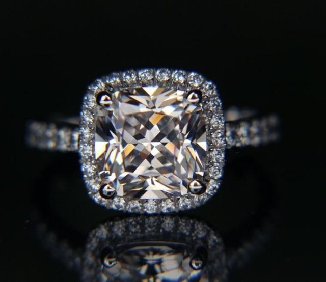 choucong classy brillian 30 ct white diamonique cz 925 sterling silver wedding ring sz 5 - Diamonique Wedding Rings