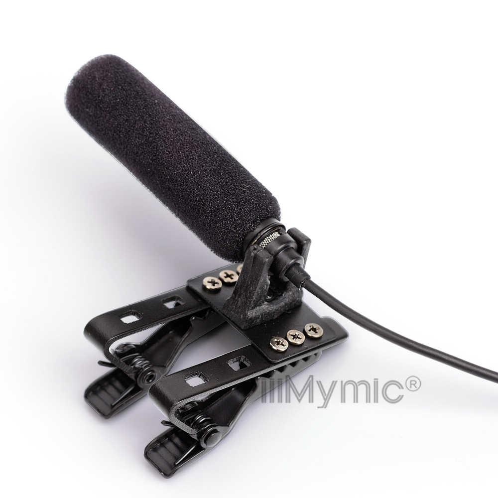 Длинный диапазон звука-поглощающий! Профессиональный лацкан мини-конденсатор микрофон для Sennheiser беспроводной передатчик 3,5 мм винтовой разъем