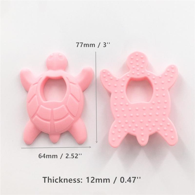 10 SZTUK BPA Darmowe Silikonowe Żółwia Ząbkowanie Wisiorek Żucia - Opieka nad dzieckiem - Zdjęcie 4