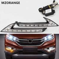 White Yellow LED DRL Daytime Running Light Turn Signal Front Fog Lamp Daylight Car Styling For