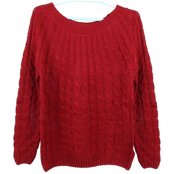 Women Winter Warm Long Sleeve Loose Pullover Jumper Knit Sweater New Vintage
