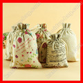 (200pcs/lot)  Wholesale  linen drawstring bag