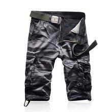 Мужские шорты, брендовые Модные мужские шорты-бермуды, мужские повседневные пляжные шорты Карго, мужские летние пляжные шорты в стиле милитари, камуфляжные шорты