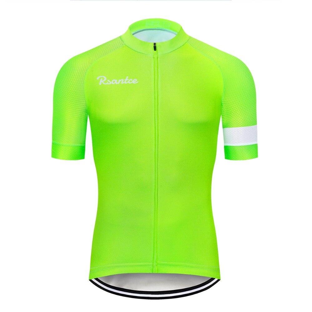 f172aa88 2018 Fluorescent green Cycling Jersey Tops Summer Racing Cycling Clothing  Ropa Ciclismo Short Sleeve mtb Bike Jersey Shirt
