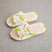 Kids Slippers Toddler Infant Girls Boys Unisex Cartoon Linen Slippers Shoes Pantuflas Infantiles Children Flip Flop Slippers Kid
