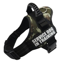 Pet Dog Harness Reflective Rope Nylon Handle Adjustable Anti collision Vest Harness for Small Medium Large DogS Camouflage