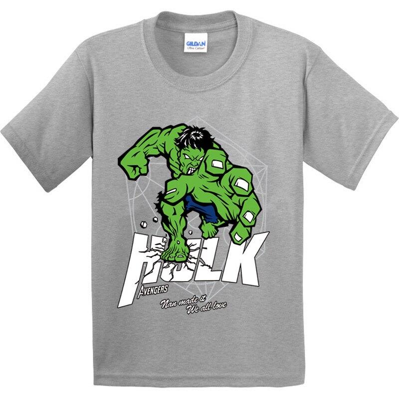 2019 Fashion Children Avengers Characters Hulk/ironman Design 100% Cotton T Shirt Boys/girls Brave You Short Tops Kids Cool T-shirt, Gkt032 Elegant In Style