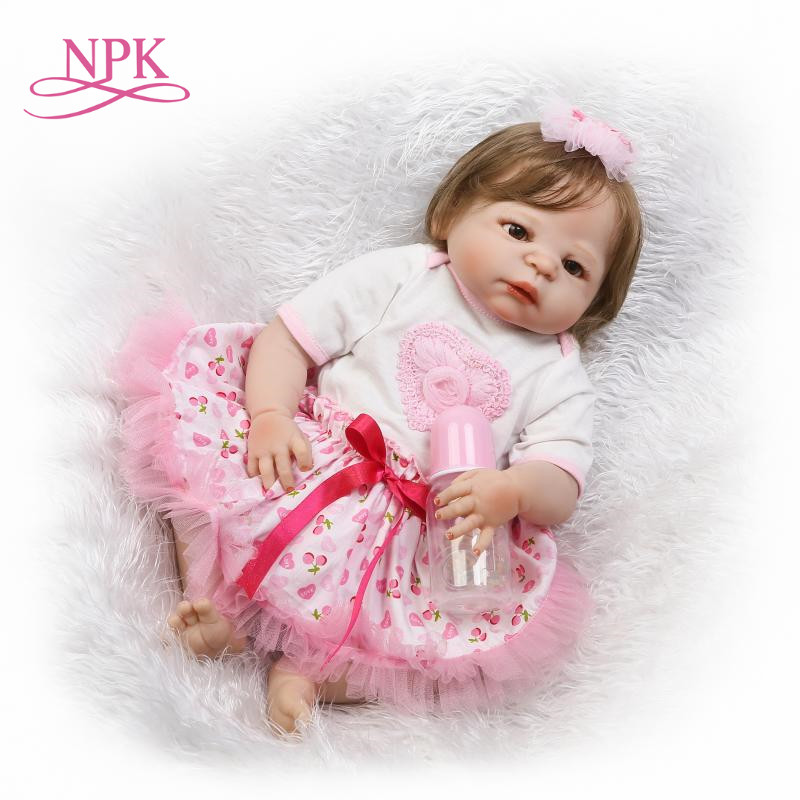 NPK reborn doll with soft real gentle touch hotsale free shipping with full vinyl body doll for children Birthday Gift npk free shipping hotsale reborn doll doll kit arianna by rev diy blank kit soft silicone vinyl real gentle touch