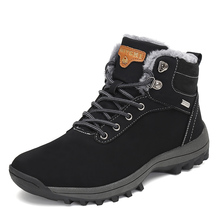 купить Christmas Fashion Boots Men Shoes Winter Warm Safety Shoes Men Boots Casual Military Boots Antiskid Snow Botas Zapatos De Hombre дешево