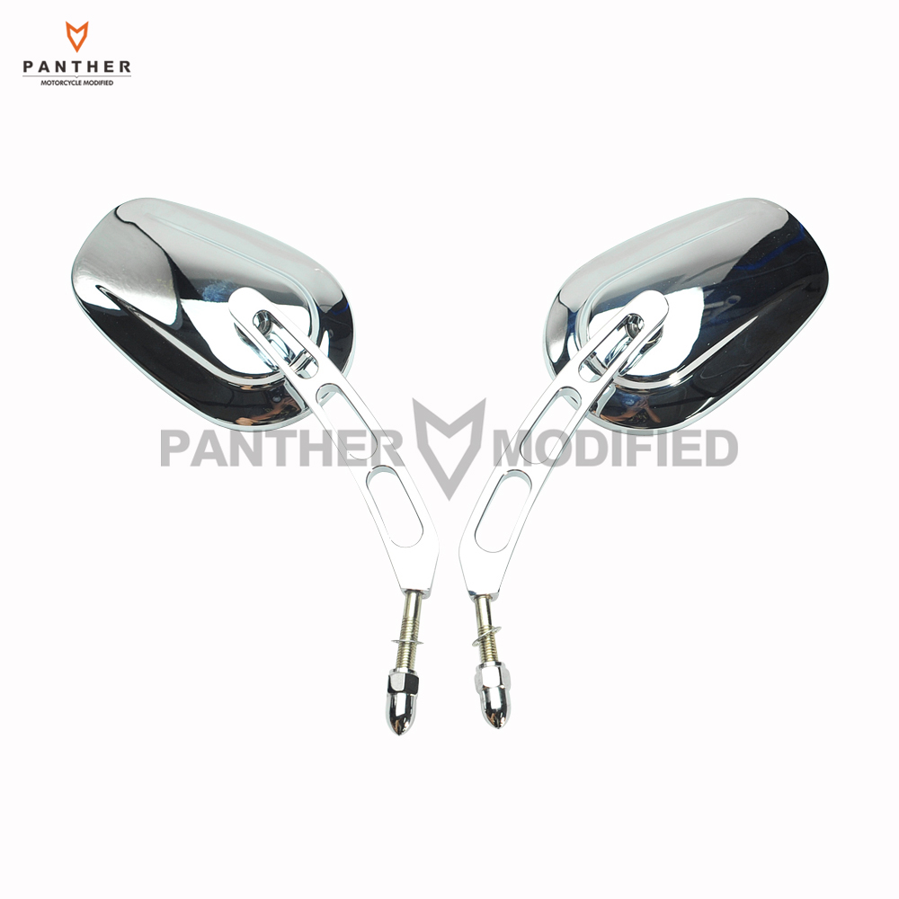 цена Chrome Motorcycle Mirror Moto Rear View Mirrors Hollow styling case for Harley Touring Road King Glide VRSCAW V-ROD 883 1200
