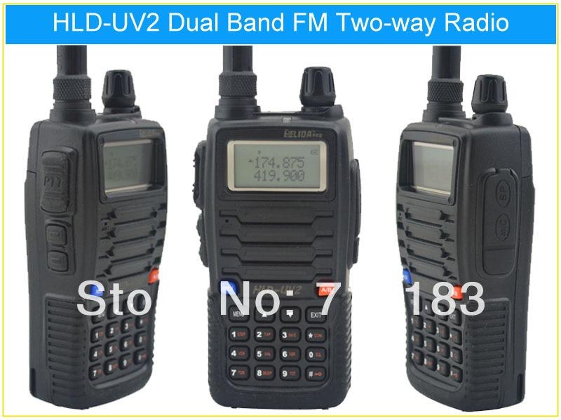 HELIDA HLD-UV2 136-174MHz & UHF400-480MHz Dual Band 5W/3W 128CH FM 65-108MHz Portable Two-way RadioHELIDA HLD-UV2 136-174MHz & UHF400-480MHz Dual Band 5W/3W 128CH FM 65-108MHz Portable Two-way Radio